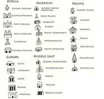 Culturally Diverse City Icons for Cartography