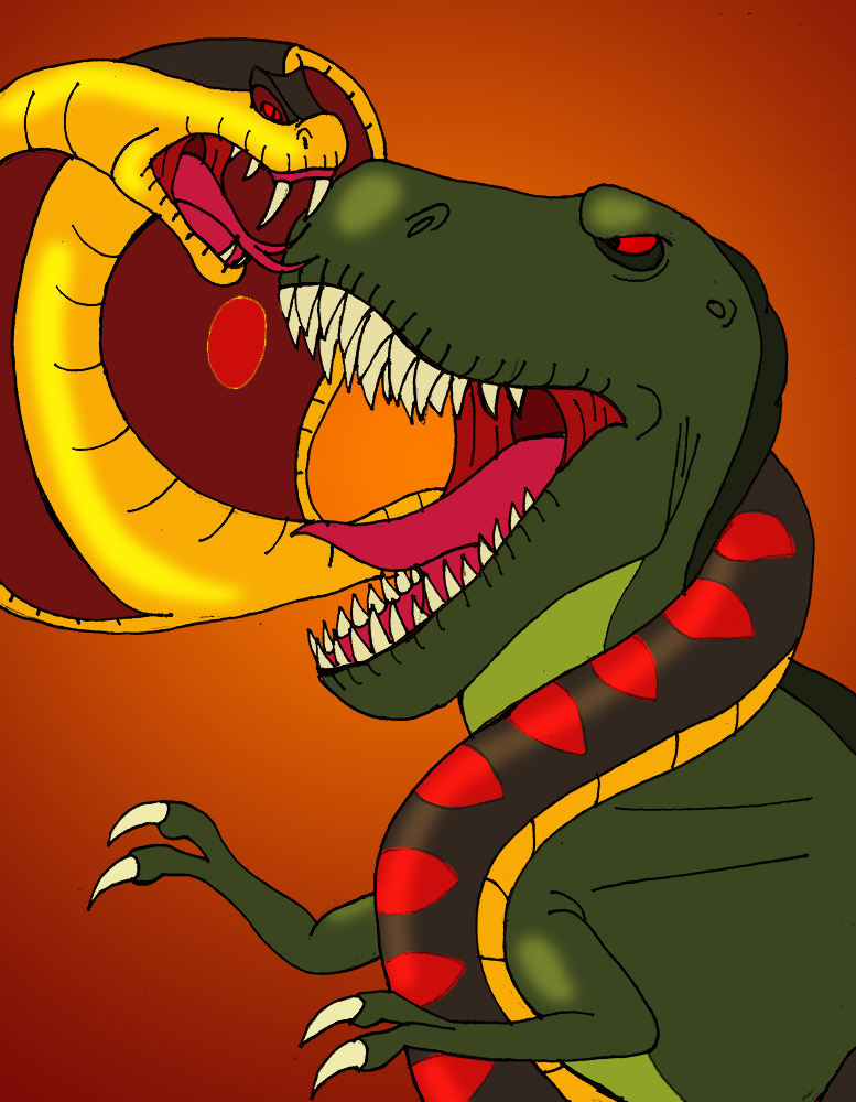 Sharptooth vs jafar by dabrandonsphere on deviantart - Serpent aladin ...