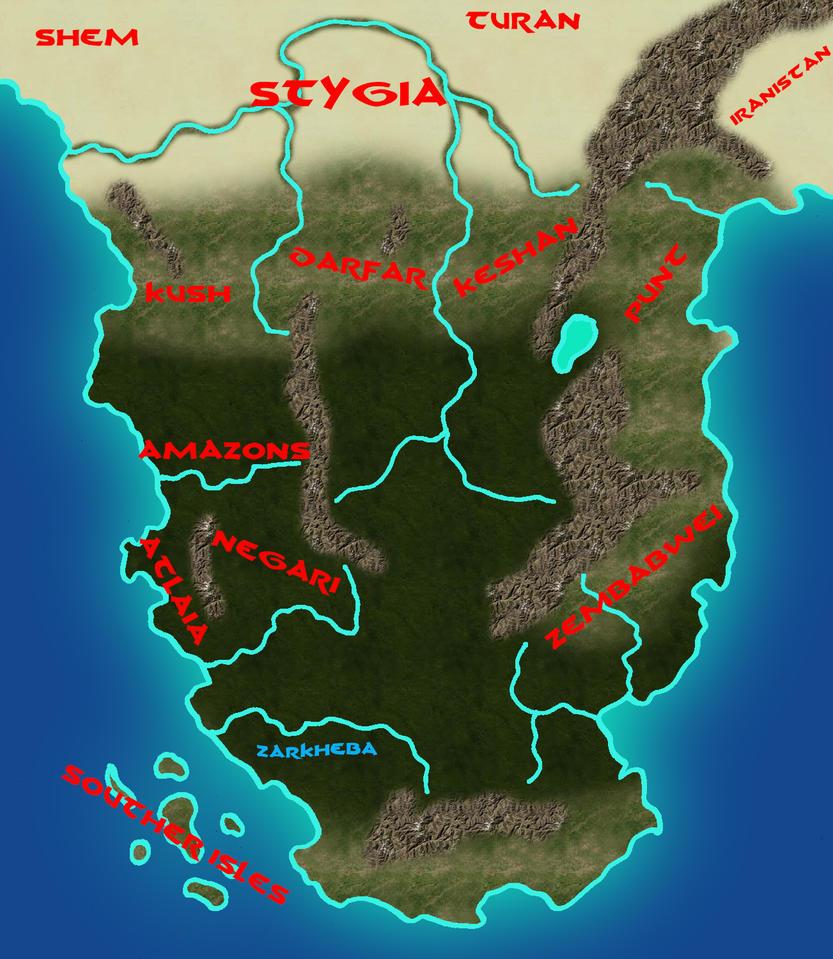 South Of Hyboria By TyrannoNinja On DeviantArt