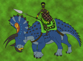 Jungle Queen on Her Steed by TyrannoNinja