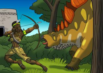 Nyarai and the Stegosaur by TyrannoNinja