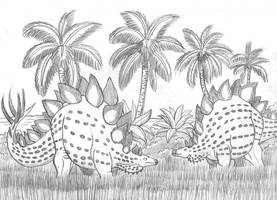 Stegosaurs of the Caribbean by TyrannoNinja