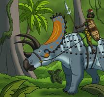 Titanoceratops Rider by TyrannoNinja