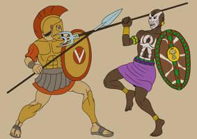 Greek Versus Carthaginian by TyrannoNinja