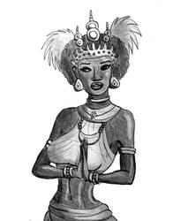 Papuan Apsara Sketch