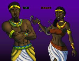 Kek and Keket by TyrannoNinja