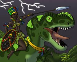 Commission - Onward to Battle by TyrannoNinja