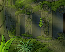 Jungle Ruins by TyrannoNinja