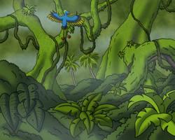 Cretaceous Jungle by TyrannoNinja