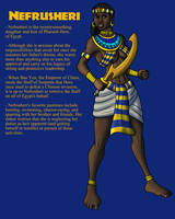 OC: Princess Nefrusheri of Egypt by TyrannoNinja