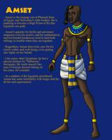 OC: Prince Amset of Egypt by TyrannoNinja