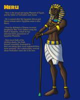 OC: Pharaoh Heru of Egypt by TyrannoNinja