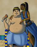 Ptolemy IV and Agathoclea by TyrannoNinja