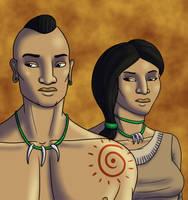 Wampanoag Couple by TyrannoNinja