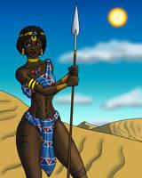 Garamantes Warrior Girl by TyrannoNinja