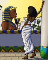 Nefertari Admires Her Capital by TyrannoNinja