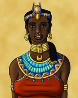 Hathor Smiles by TyrannoNinja