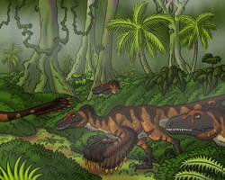 Raptors on the Run by TyrannoNinja