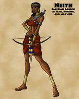 Neith the Egyptian Hunting Goddess by TyrannoNinja