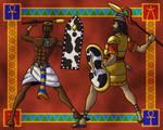 Egyptian Versus Mycenaean by TyrannoNinja