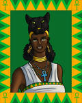 Portrait of Bastet by TyrannoNinja