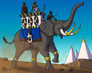 Kushite Royal Elephant by TyrannoNinja