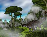 Ankylosaurus in the Uplands