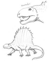 Dimetrodon Sketches by TyrannoNinja