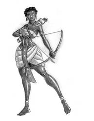 Nebta the Wawatian Warrior by TyrannoNinja