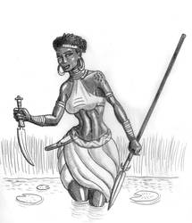 Wading Warrior by TyrannoNinja