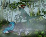 Albertosaurus Has Breakfast