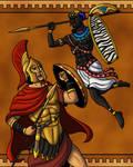 Achilles Duels Memnon by TyrannoNinja