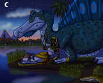 Two Queens of the Nile at Twilight by TyrannoNinja