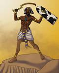 Roaring Egyptian Warrior