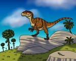 Allosaurus on the Rocks