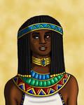 Portrait of an Egyptian Princess by TyrannoNinja