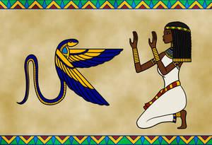 Kneeling before the Winged Cobra