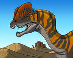 Dilophosaurus in the Desert