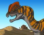 Dilophosaurus in the Desert