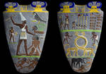 The Narmer Palette, Colorized by TyrannoNinja