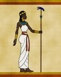 Itaweret in Egyptian Papyrus Style