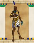 Ancient Egyptian Priest by TyrannoNinja