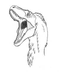Roaring Raptor Sketch