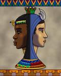 Isis as a Janiform Vase by TyrannoNinja