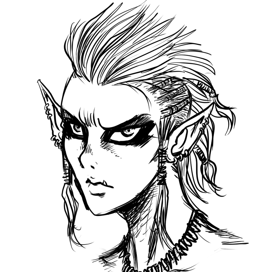 OrcFemale sketch by noobaka