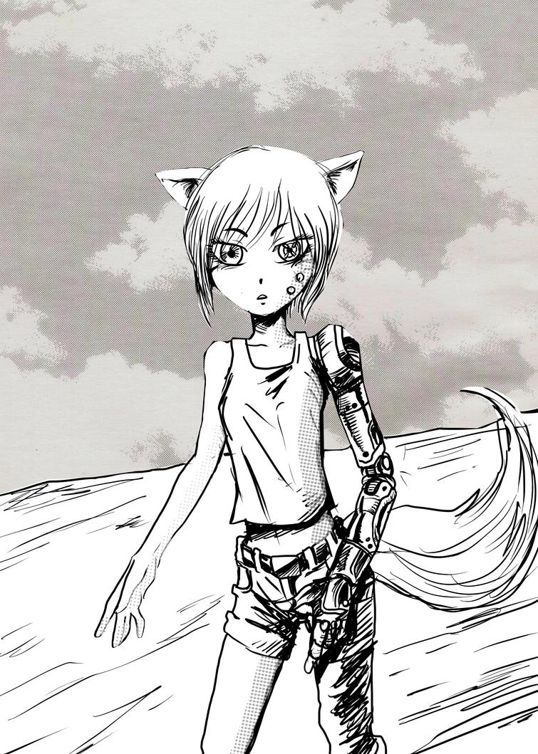 Garota Raposa Ciborgue Manga by noobaka