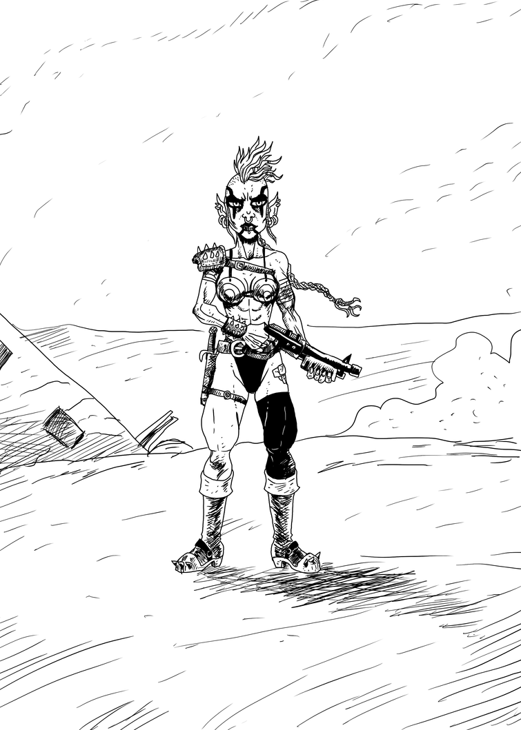 Post Nuke Wasteland Mutant Punk by noobaka