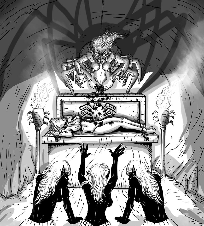 Queen of Spiders by noobaka
