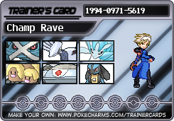 Champion Rave trainer card by raventhewarrior