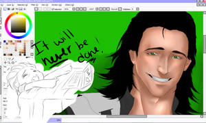 Loki WIP by AltairYourClothesOff